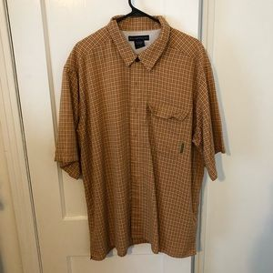 Burnt orange short  sleeve button down shirt